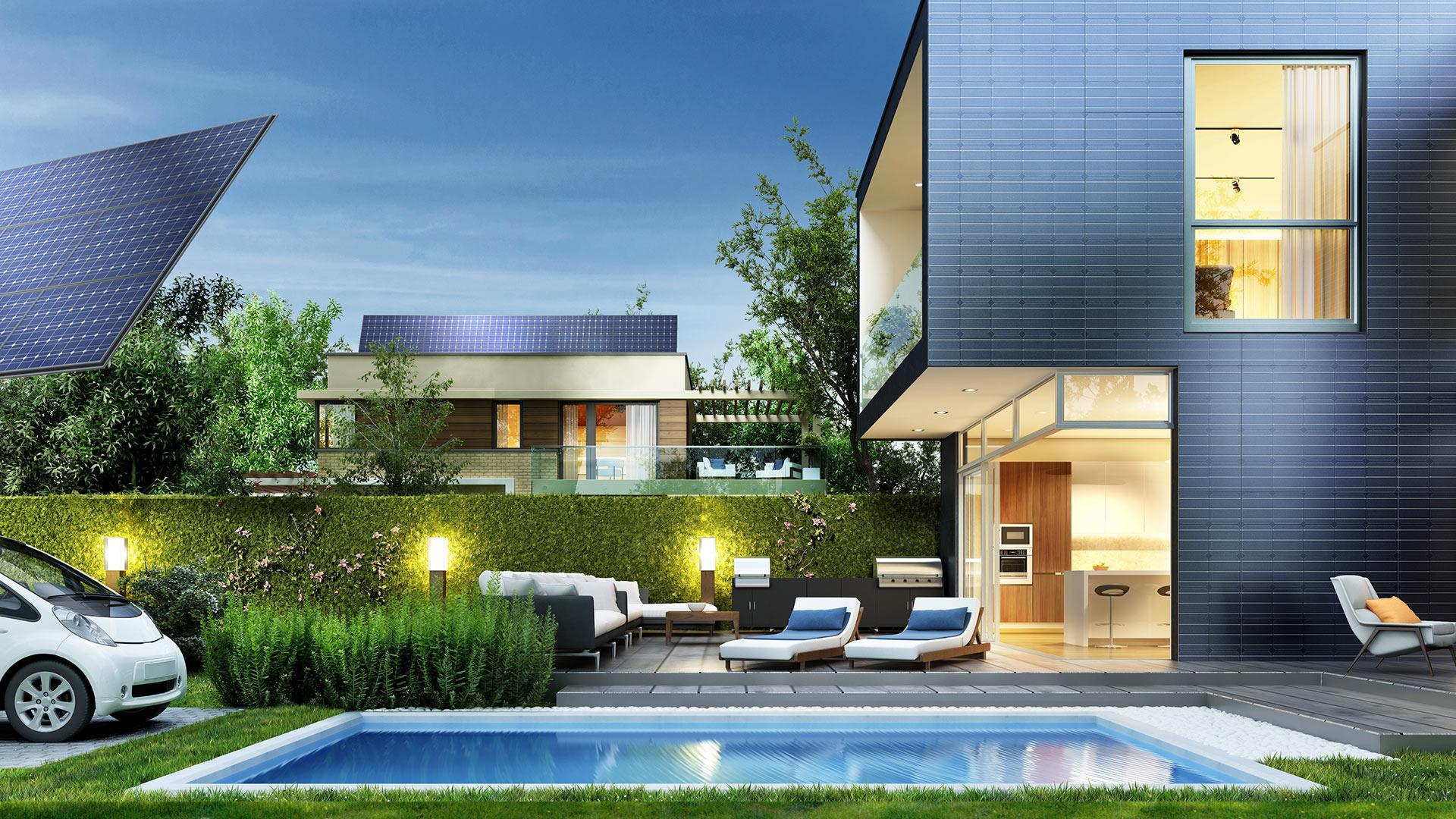 Haus mit Garten
